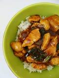 Chinesisches Huhn mit Reis Stockbilder