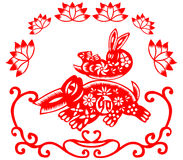 Chinesisches Kaninchen des neuen Jahres Stockbild
