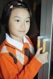 Chinesisches Kindlächeln Lizenzfreie Stockfotografie