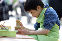 chinesisches Kindmalen Lizenzfreies Stockbild
