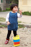 Chinesisches Kindspielen. Lizenzfreie Stockbilder