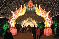 Chinesisches Laternefestival des neuen Jahres 2012 Stockfotos