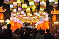 Chinesisches Laternefestival des neuen Jahres 2012 Stockfoto
