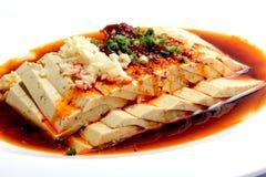 Chinesisches Lebensmittel: Salat gemacht von Toufu lizenzfreie stockfotos