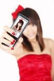 Chinesisches Mädchen, das Selbstportrait nimmt Lizenzfreie Stockbilder