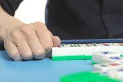 Chinesisches Mannspiel Mahjong Lizenzfreies Stockbild