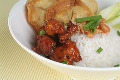 Chinesisches Nahrung-Süßes u. saures Schweinefleisch Lizenzfreies Stockbild