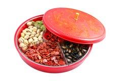 Chinesisches neues Jahr - chinesischer Süßigkeit-Kasten Lizenzfreie Stockbilder