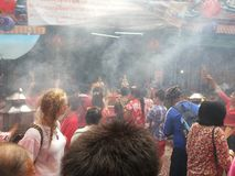 Chinesisches neues Jahr 2015 in der Porzellanstadt Bangkok Thailand Lizenzfreies Stockfoto