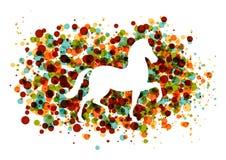 Chinesisches neues Jahr des Pferds sprudelt Datei EPS10. Stockbild