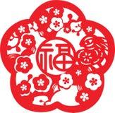 Chinesisches neues Jahr-Muster Stockbilder