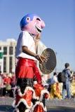 Chinesisches neues Jahr-Parade-Papier Mache Kostüm Lizenzfreies Stockfoto