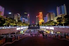 2016 chinesisches neues Jahr in Quadrat Guangzhous Huacheng Stockfoto