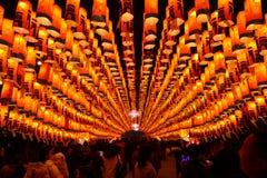 2019 chinesisches neues Jahr in Xian stockbilder
