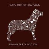 Chinesisches Neujahrsfest 2018 Lizenzfreie Abbildung