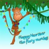 Chinesisches Neujahrsfest des Affen Stockfotos