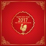 Chinesisches Neujahrsfest des Hahns Stockfoto