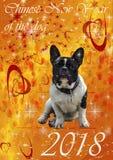 2018 Chinesisches Neujahrsfest des Hundes Lizenzfreie Stockfotos