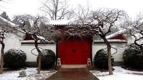 Chinesisches Neujahrsfest in Kaisergarten Yuanmingyuan Lizenzfreie Stockfotos