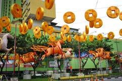 Chinesisches Neujahrsfest mit Pferd-themenorientierten Dekorationen Lizenzfreie Stockbilder