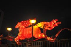 Chinesisches Neujahrsfest mit Pferd-themenorientierten Dekorationen Lizenzfreies Stockbild