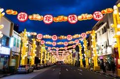 Chinesisches Neujahrsfest an Singapur-` s Chinatown stockbild
