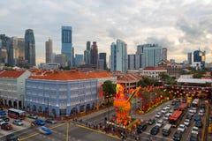 Chinesisches Neujahrsfest 2017 Singapurs Chinatown Stockbilder