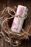 Chinesisches Notgroschen-Geld Stockfoto