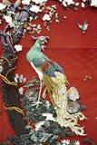 Chinesisches peapock Muster Stockbild