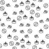 Chinesisches Philosophie-Symbol-nahtloser Muster-Vektor lizenzfreie abbildung