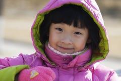 Chinesisches Portrait des kleinen Mädchens Lizenzfreie Stockbilder