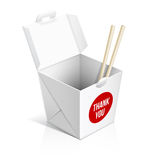 Chinesisches Restaurant nehmen Kasten weg stock abbildung
