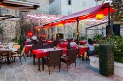 Chinesisches Restaurant Shanghai, alte Stadt, Budva, Montenegro Lizenzfreies Stockbild