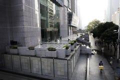 Chinesisches Stadtbild am Morgen Stockbild