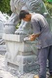 Chinesisches Stein-Gestalten Lizenzfreies Stockbild