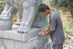 Chinesisches Stein-Gestalten Stockbild