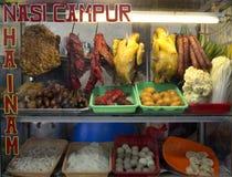 Chinesisches Straßen-Lebensmittel in Jakarta Stockfotos