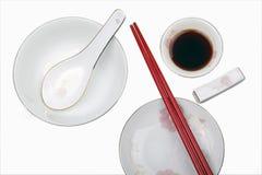 Chinesisches Tafelgeschirr Stockfotografie