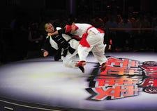 Chinesisches taiji kung fu Spiel Lizenzfreie Stockfotografie