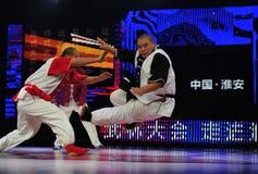 Chinesisches taiji kung fu Spiel Stockbilder