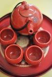 Chinesisches Teeset Stockfotografie