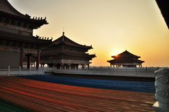 Chinesisches Tempel-Gebäude stockbild