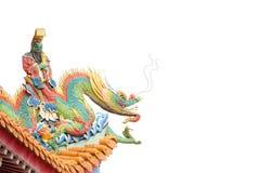 Chinesisches Tempeldach. Stockfoto