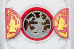 Chinesisches Tempelfenster stockbild