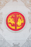 Chinesisches Tempelfenster stockfotos