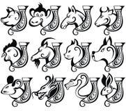 Chinesisches Tierkreiszeichen Stockbild
