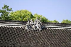 Chinesisches traditionelles altes Dach Lizenzfreie Stockfotografie