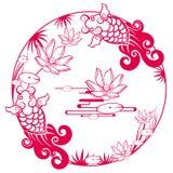 Chinesisches traditionelles glückliches Muster Stockbild