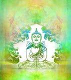 Chinesisches traditionelles künstlerisches Buddhismus-Muster lizenzfreie abbildung