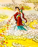 Chinesisches Wandgemälde Lizenzfreies Stockfoto